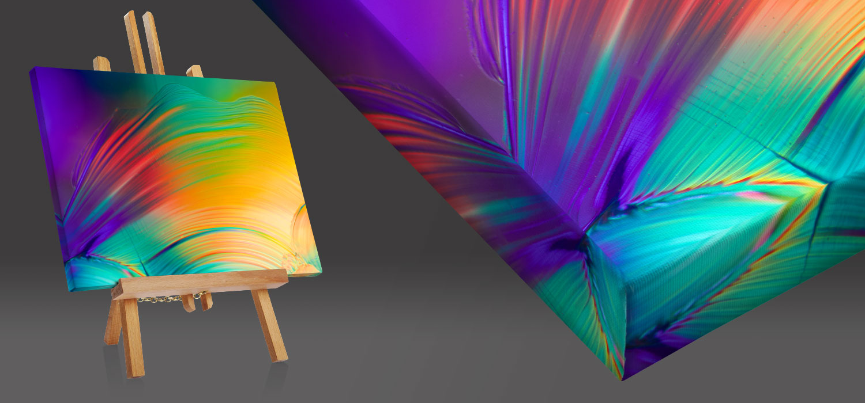 Quadri moderni e quadri astratti su tela a misura - quadro con bordo riflesso due