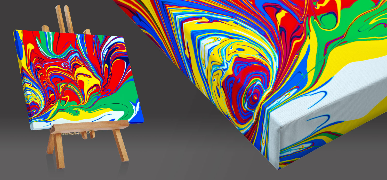Quadri moderni e quadri astratti su tela a misura - quadro con bordo riflesso