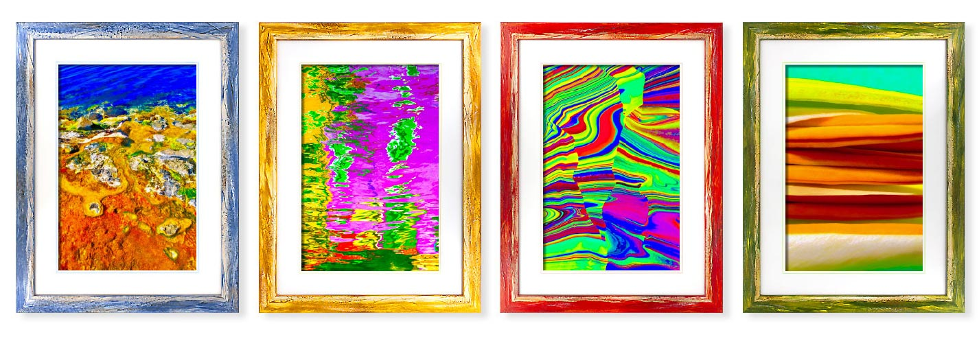Quadri moderni quadri astratti su tela o cartoncino a misura - quadri con cornici colorate